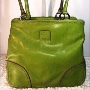 Liz Claiborne ~ Lime Green Leather Med. Handbag ~